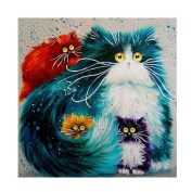display08 MultiColor Cats Pattern 5D Diamond Painting Kit Embroidery Cross Stitch Arts Craft