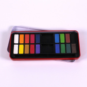 18 Disc Ready Mixed Watercolour Paint Tin by BCreative ®