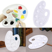 7 Well Mixing Paint Draw Art or Nail Watercolour Plastic Palette Tray