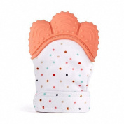 TOOGOO Orange baby products silicone molars gloves baby molars gloves voice toothpaste gloves