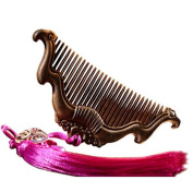 Comb Handmade Combs Hair Rosewood Rough Teeth Massage Straight Hair Comb Wood Carving Comb Carved Beauty Comb