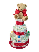 Nappy Cake Dodot Johnson's Baby Red