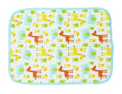 Fostly Nappies Sheet Waterproof Sheet Washable Bed Pad Baby Changing Pad Baby Flannel Sheets for Baby Toddlers Children or Adults Giraffe Pattern