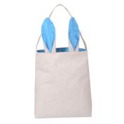 Hunpta Cotton linen Gift Bag Easter Rabbit ears Bag Tote Handbag Wristlets Clutches Bag