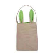 Hunpta Jute Gift Bag Easter Rabbit ears Bag Tote Handbag Wristlets Clutches Bag
