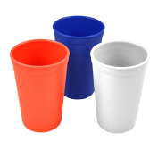 Re-Play Made in the USA 3pk Drinking Cups for Baby and Toddler - Red, White, Navy Blue