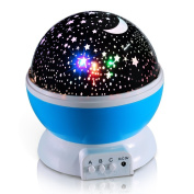 Galaxy Night Light Lamp, 360 Degree Romantic Room Rotating Cosmos Star Moon Sky, Kid Bedroom Lamp, Baby Christmas Gifts