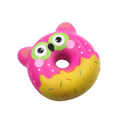 Molyveva Jumbo Owl Doughnut Kawaii Cream Scented Squishies Very Slow Rising Kids Toys Doll Gift Fun Collection Stress Relief Toy Hop Props, Decorative Props Large