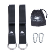Anyoo Tree Swing Straps Hanging Kit,Durable 150cm Long×5.1cm Wide Straps,Heavy Duty Steel Carabiners,Easy and Fast,Good for Swings and Hammocks