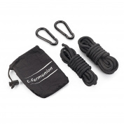 Hammock accessories,two locking carabiner and two strip 300cm hanging ropes,suitable for any hammock. by E-Farmunion