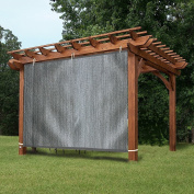 EZ2hang Gazebo Privacy Panel Adjustable Hanging Panel for Pergola/Porch/Patio 1.8m x 1.5m Grey