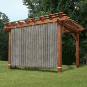 EZ2hang Gazebo Privacy Panel Adjustable Hanging Panel for Pergola/Porch/Patio 1.8m x 1.5m Coffee