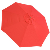 JTW- 2.4m Outdoor Patio umbrella replacement canopy 8 Ribs Canopy Replacement Top cover UV30+ 180g/sqm Polyester Water resistance RED colour