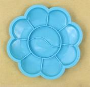 RICISUNG 8.5cm Blue Plum Children's palette brushes feet plum blossom plastic arts watercolour plate colour plate paint box