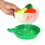 Salad Cutter Bowl Cut Fruit Vegetables Salad Bowl Creative Kitchen Tools Big Large Plastic Mixing Set Adapter