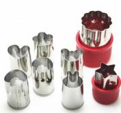 8pcs/Set Stainless Steel Puzzle Fruit Vegetable Cutter Kitchen Tools Mould Flower Shape Cookie Fondant Pastry Mould Accessories