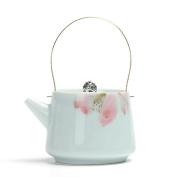 UOMUN Hand-painted Teapot Ceramics Manual Single Pot Lifting Pot Tea Pot Tea Set Filter Kitchen Restaurant 200ML