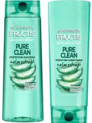 Garnier Fructis Pure Clean Fortifying Shampoo & Conditioner Set, 370ml and 350ml