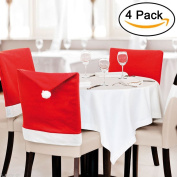 Youniker 4 PCS Christmas Chair Cover