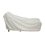 Taupe Polyester Chaise Cover