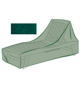 Outdoor Furniture All-Weather Cover for Long Chaise, in Green