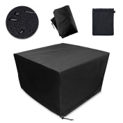 Patio Table & Chair Set Cover, Durable and Water Resistant Fabric Outdoor Furniture Cover Rectangular Table Cover
