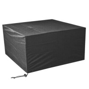 LAAT Waterproof Furniture Rain Cover Outdoor Garden Patio Set Cover Cube Table Chair Set Cover Home Decoration-Black