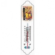 Cartexpo TT621 Metal Thermometer, Zan Theme [Text in French]