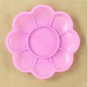 RICISUNG 8.5cm Pink Plum Children's palette brushes feet plum blossom plastic arts watercolour plate colour plate paint box