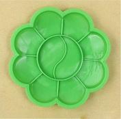 RICISUNG 8.5cm Green Plum Children's palette brushes feet plum blossom plastic arts watercolour plate colour plate paint box