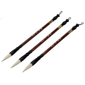 3 Pcs Set(large+Medium+small) Woollen Weasel Hair Chinese Traditional Calligraphy Brushes Drawing Painting Pen Brushes