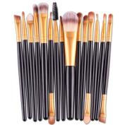 Cosmetic Brush,Clode® 15 pcs/Sets Eye Shadow Foundation Eyebrow Lip Brush Makeup Brushes Tool