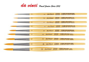 Da Vinci 303 Series Synthetic Brush, Bristle, Yellow SET 9 PCS , 1, 2, 3, 4, 5 ,6, 8 ,10 ,12. for water-colour, oil and acrylic painting