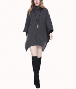 ZFANG Outerwear Pullover Coat Cloak Jacket Casual Bat Sleeve Oversized Poncho Tops Sweatshirt