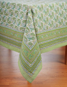Tablecloth - Paisley Cotton Table Cover; 150cm Square French Country Print Table Cloth