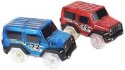 2pcs Track hot wheels railway road magic truck flexible toys for boys children railroad glowing LED light tracks cars