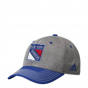 New York Rangers adidas Heathered Grey Structured Adjustable Snapback Hat