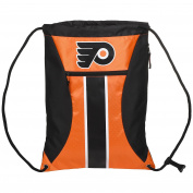 NHL Philadelphia Flyersbig Stripe Zipper Drawstring Backpack, Philadelphia Flyers, One Size