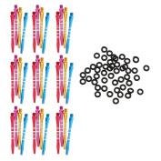 MagiDeal 100Pcs Dart Tip Gaskets O-Rings Grommets / Washers + 36 Pcs Dart Shafts - Premium Quality