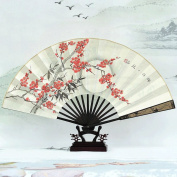 WTL Art Deco Chinese Style Featured Gifts Painting Hand-painted Process Of Rice Paper Folding Fan Shelf