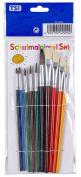TSI 10–Piece Brush Set, Hair Brush 1, 2, 3, 4, 6 10 Bristle Brush 6, 8, 10, 12