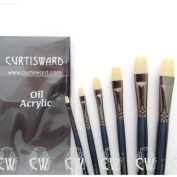 Curtisward Mastertouch Oil & Acrylic Flat Artists 6 Brush Set