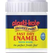 Plasti-kote Fast Dry Enamel Brush On 59ml Bottle Gloss White