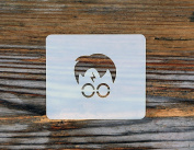 Harry Potter Glasses and Scar Face Painting Crafting Stencil 7cm x 6cm