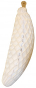 2-pack 38cm Large Honeycomb Tissue Paper Banana Fruit Decoration, White
