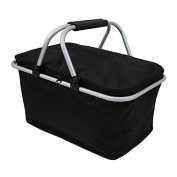 Camping Insulated Cooler Cool Hamper Storage Basket Bag Box