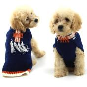 Wensltd Cute Vertical Stripes Fringed Sweater Clothing Pet Cat Dog Costume