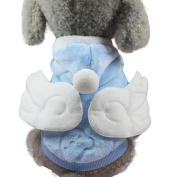 Wensltd Pet Dog Puppy Funny Angel Wings Apparel Warm Sweater Clothes