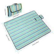 Family Picnic Blanket ,Waterproof for Picnics, Beaches, RVing and Outings,yellow