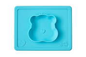 ezpz Care Bears Bowl - One-piece silicone placemat + plate
